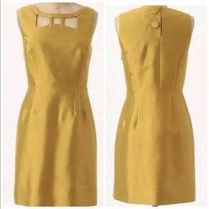 Anthropologie Maeve gold A-line mini dress size 10